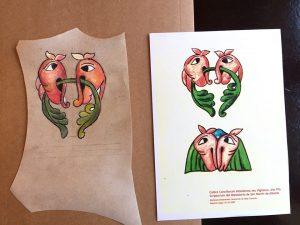 Ilustración en pergamino. Yolanda.
